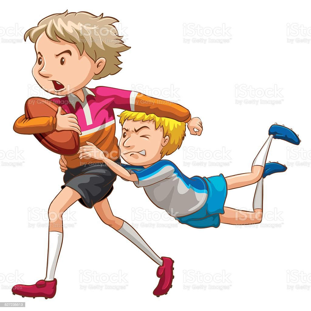 royalty free children rugby clip art vector images illustrations rh istockphoto com rugby clip art free rugby clipart free