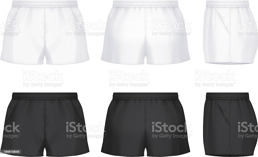 Rugby shorts vector art illustration
