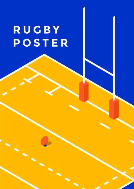 illustrations, cliparts, dessins animés et icônes de affiche sport rugby - rugby