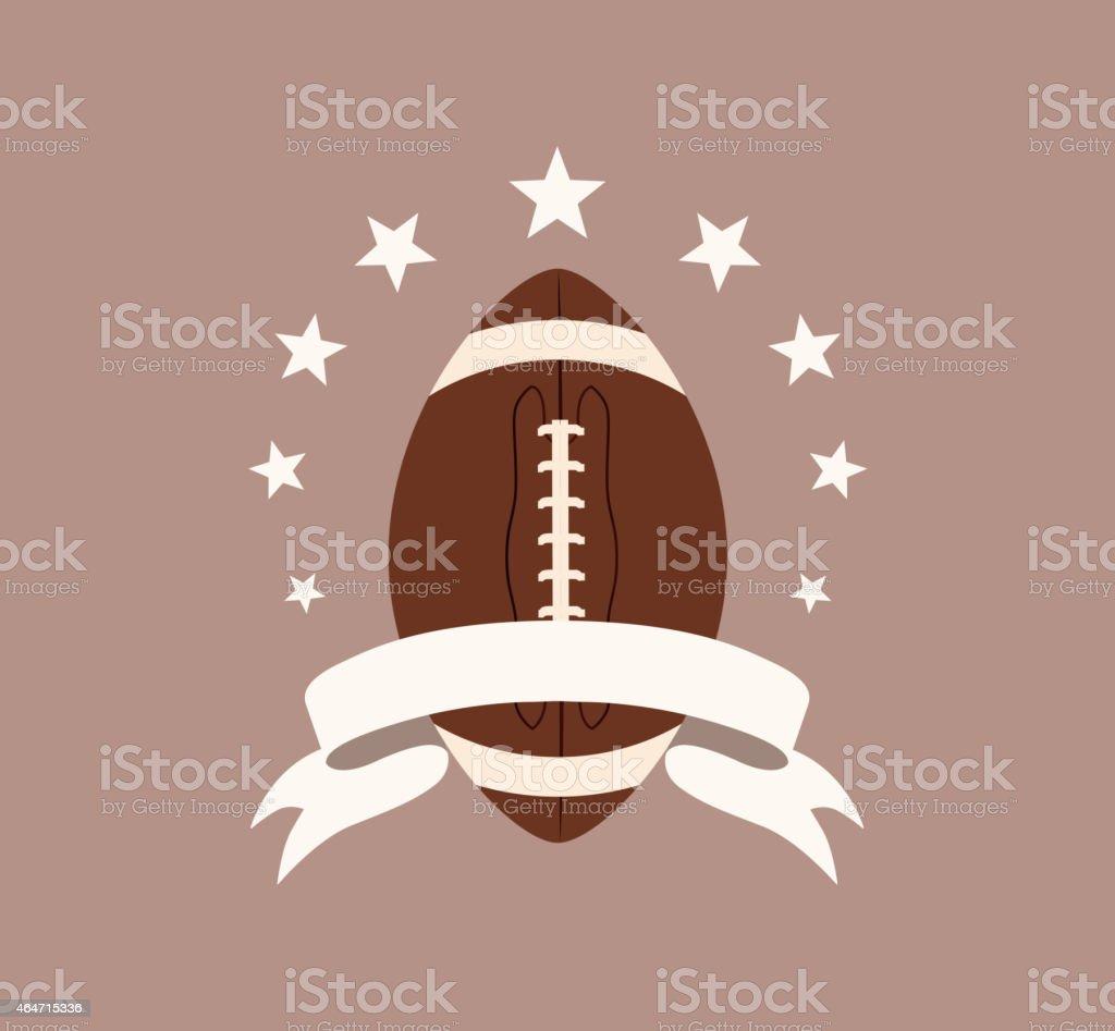 Rugby symbol vector art illustration
