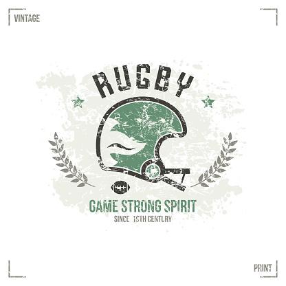Rugby team helmet emblem