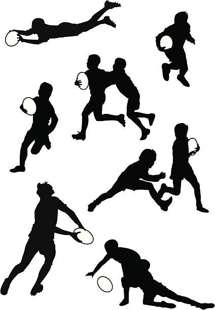 rugby-teens - rugby stock-grafiken, -clipart, -cartoons und -symbole