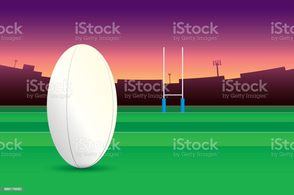 royalty free rugby field clip art vector images