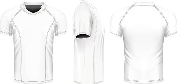 Rugby vector jersey - ilustração de arte em vetor