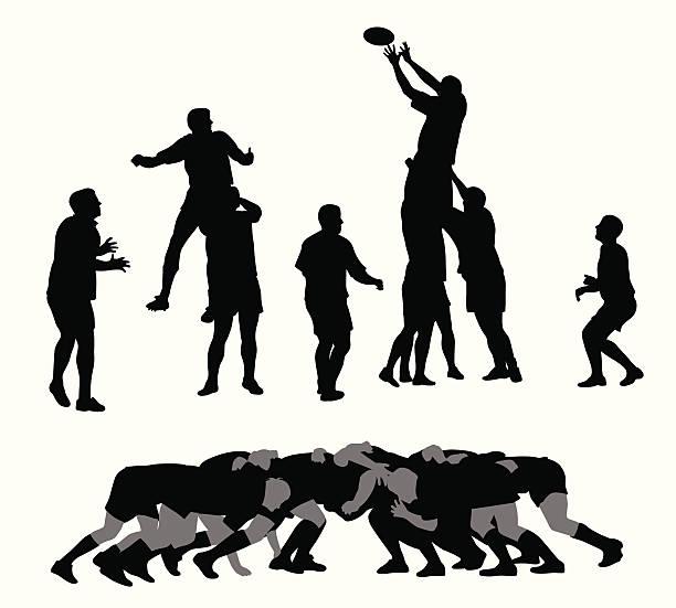 De Rugby - ilustração de arte em vetor