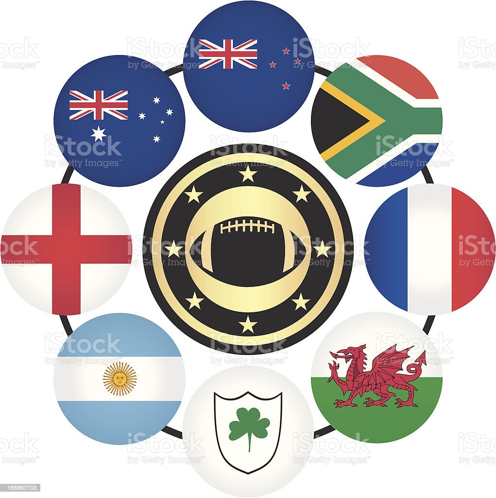 Copa mundial de Rugby - ilustración de arte vectorial