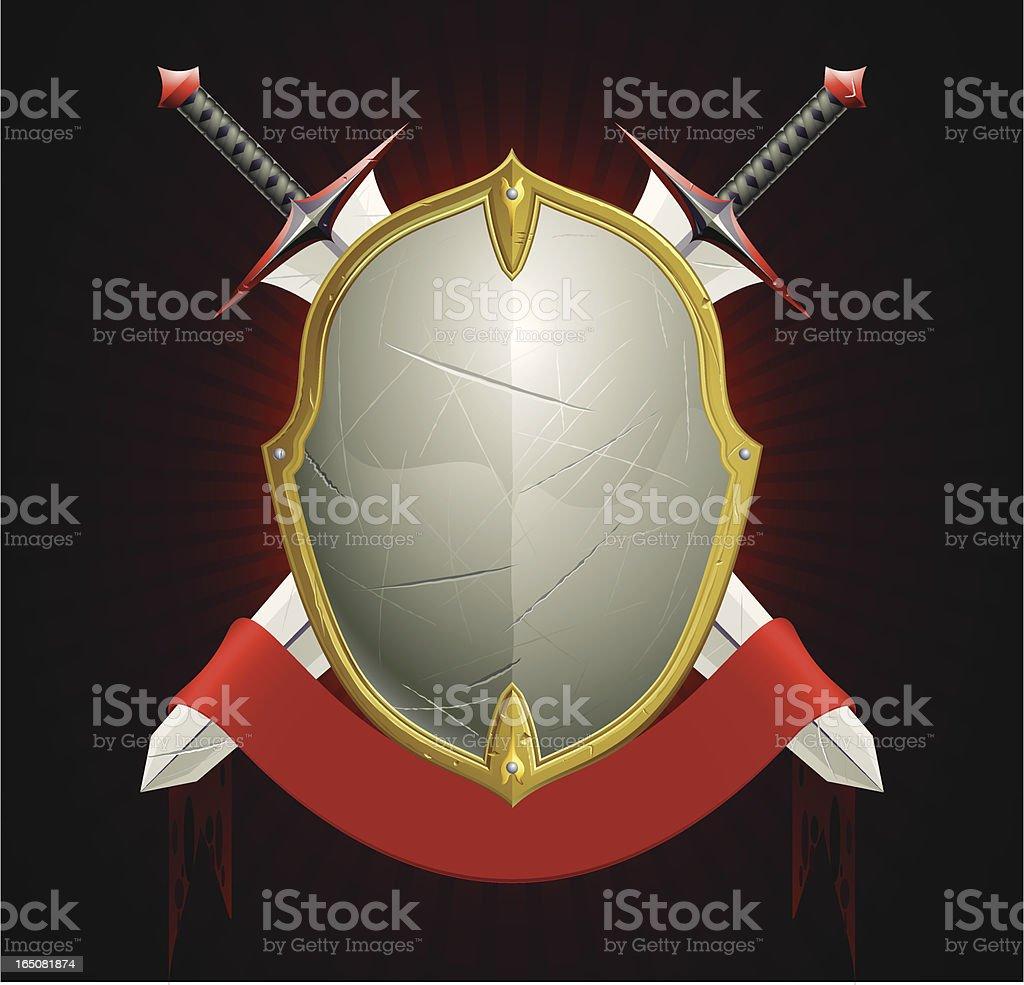 rugged shield royalty-free stock vector art