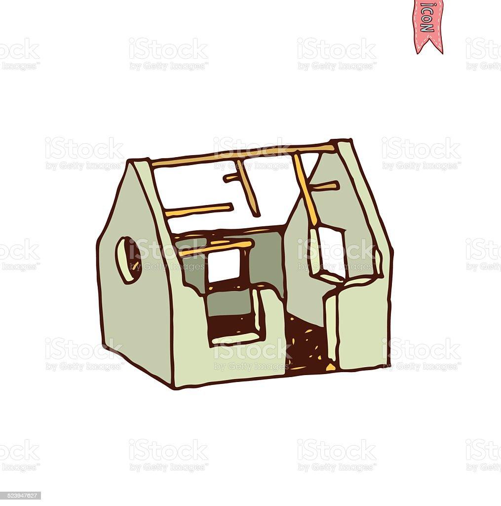 Maison En Ruine Dessin ruine maison icône illustration vectorielle vecteurs libres