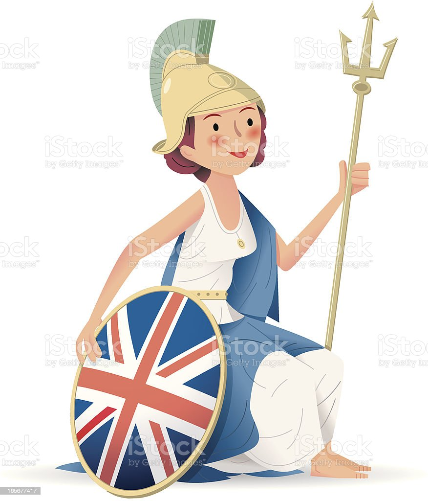 Rule Britannia vector art illustration