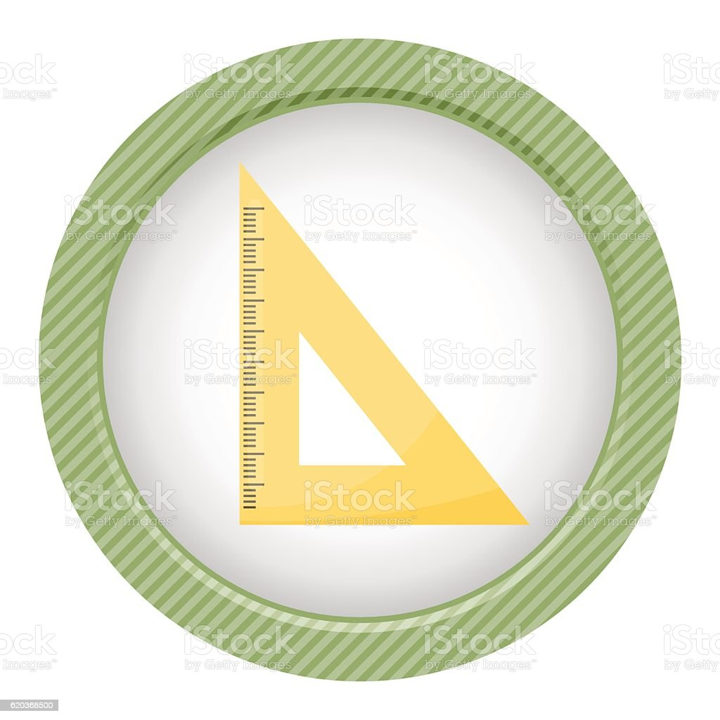 Rule triangle school isolated icon rule triangle school isolated icon - arte vetorial de stock e mais imagens de equipamento royalty-free