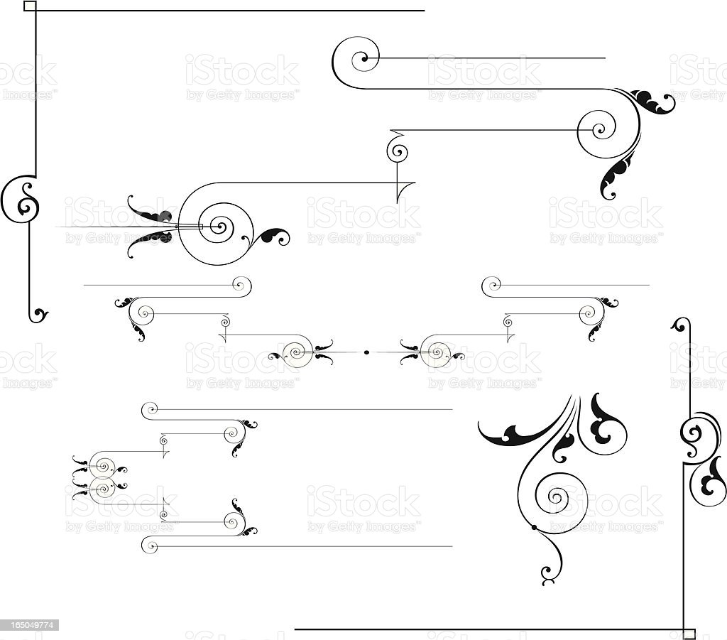 Rulelines and Scrolls royalty-free rulelines and scrolls stock vector art & more images of angle