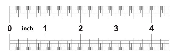 Ruler 4 Inches Imperial The Division Price Is 132 Inch