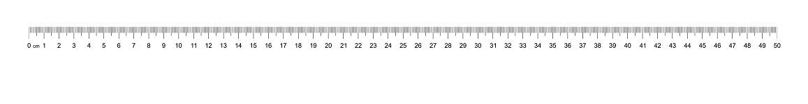 Ruler 50 cm. Measuring tool. Ruler scale. Ruler grid 50 cm. Size indicator units. Metric Centimeter size indicators. Vector