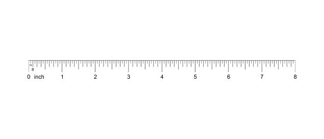 what is an eighth of an inch on a ruler