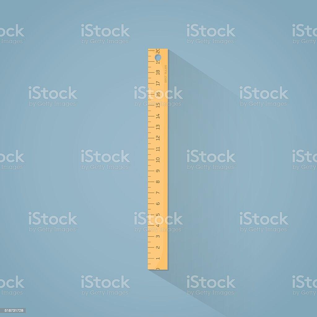 Ruler flat illustration vector art illustration