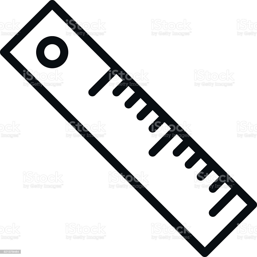 ruler outline icon stock vector art more images of authority rh istockphoto com vector rules vector ruler generator