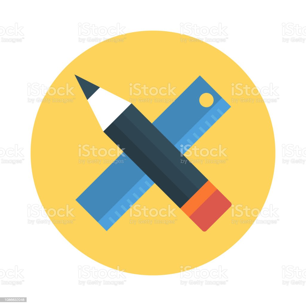 Ruler Pencil Edit Stock Illustration - Download Image Now - iStock