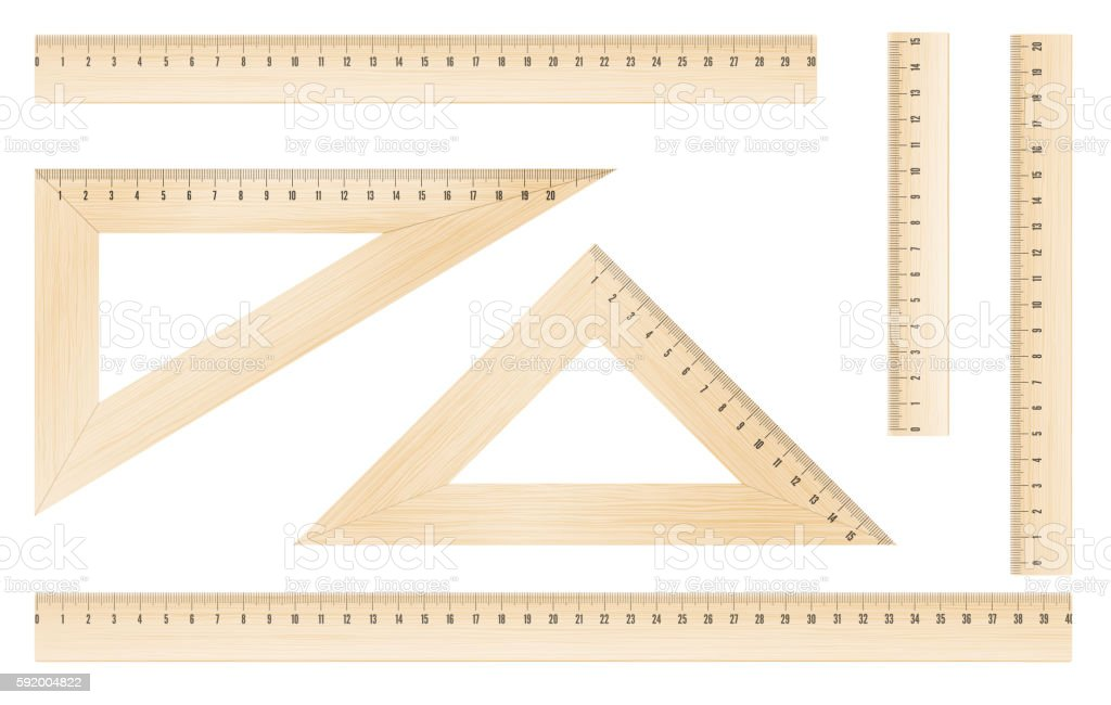rulers and triangles vector art illustration