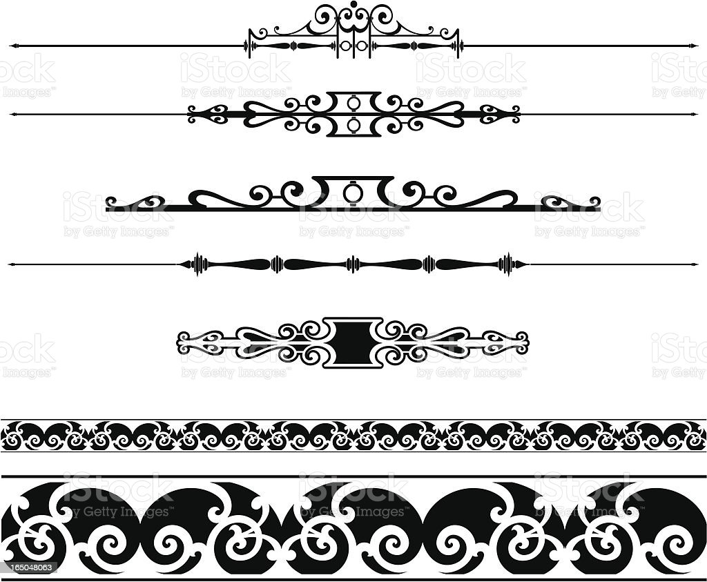 Rules and Ornate Scrolls royalty-free rules and ornate scrolls stock vector art & more images of antique