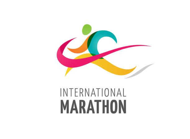 Run icon, symbol, marathon poster and logo Run icon, symbol, running marathon poster and logo cross country running stock illustrations