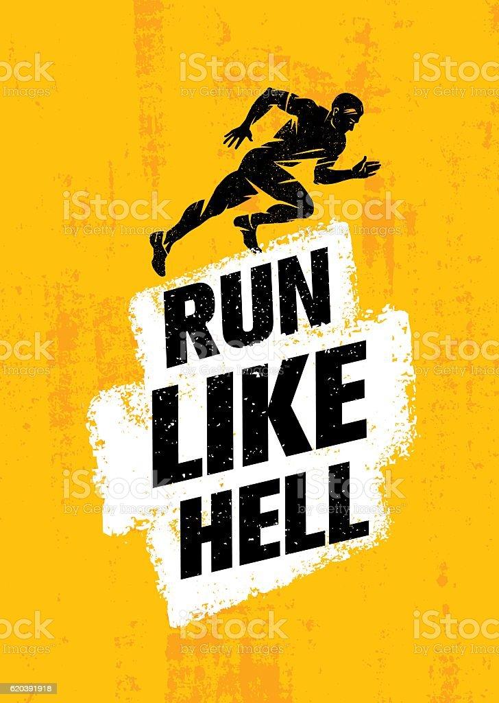 Run Like Hell vector art illustration