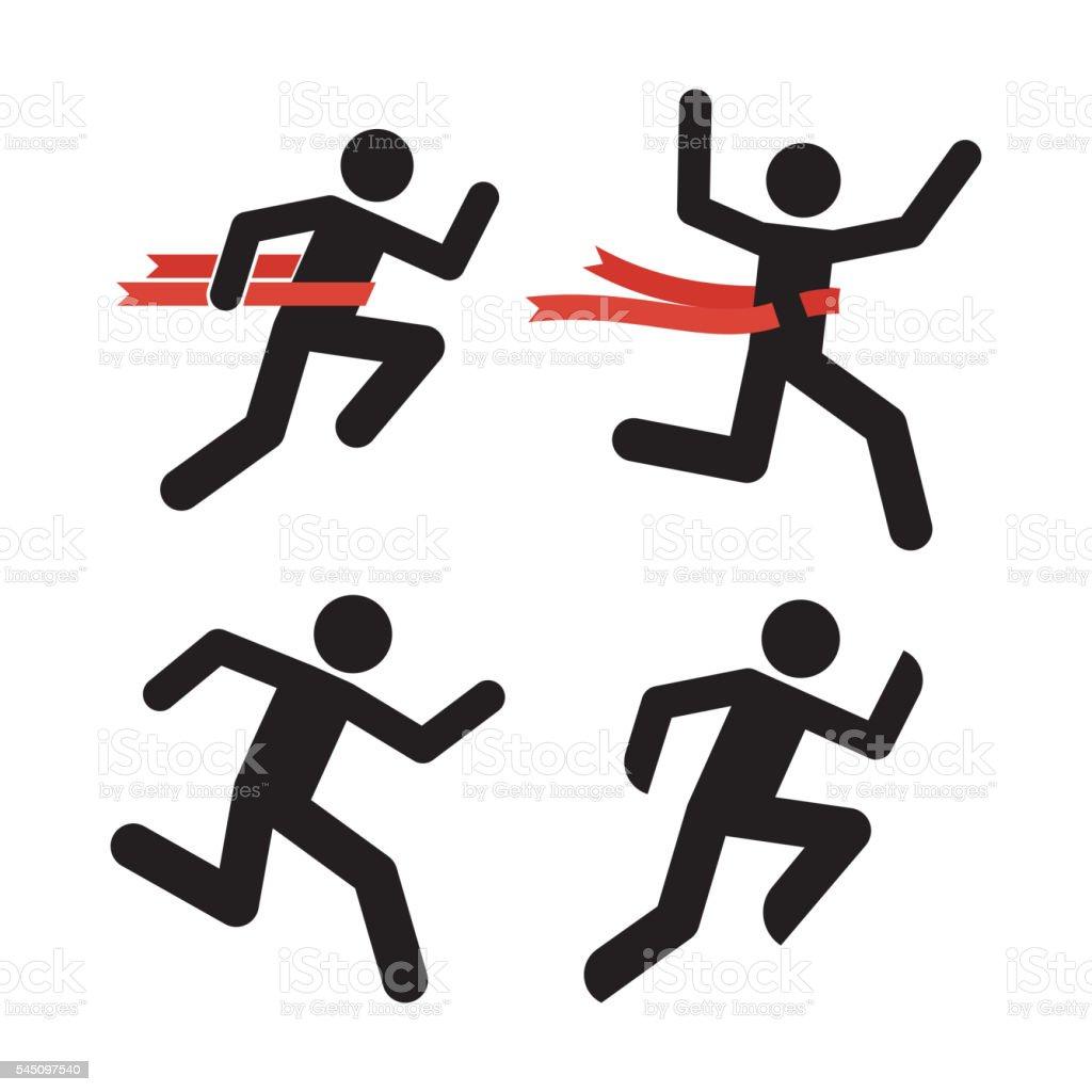 ilustração de homem ícone de corrida correndo silhueta do homem