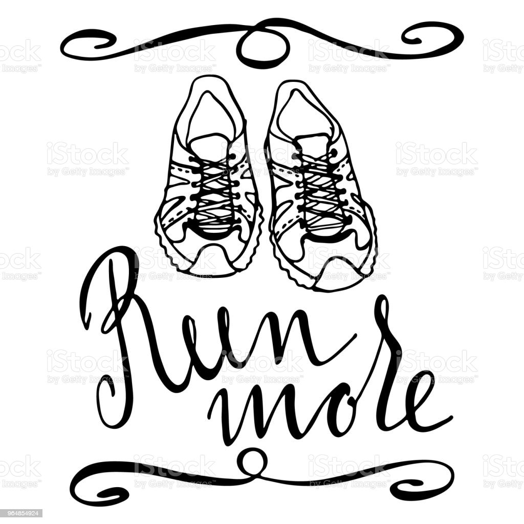Run motivation quote royalty-free run motivation quote stock illustration - download image now