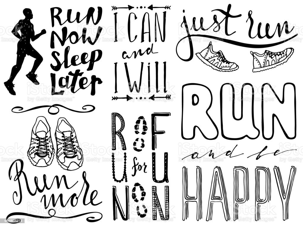 Run motivation quote royalty-free run motivation quote stock vector art & more images of art