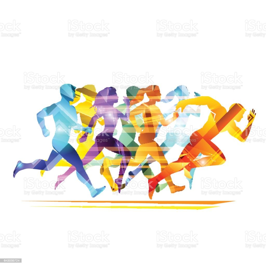 Run people illustration vector art illustration