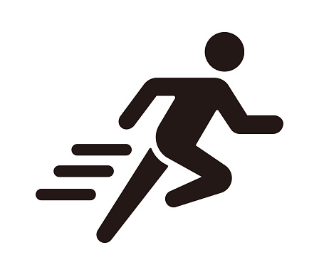 Run, sport, exercise vector icon illustration