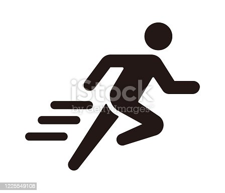 Run, sport, exercise vector icon illustration