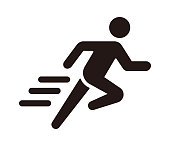 istock Run, sport, exercise vector icon illustration 1225549108