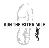 Run the Extra Mile Shoe Print with Runner