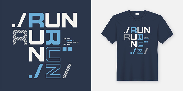 Run wild t-shirt and apparel design. Vector print, typography, poster.