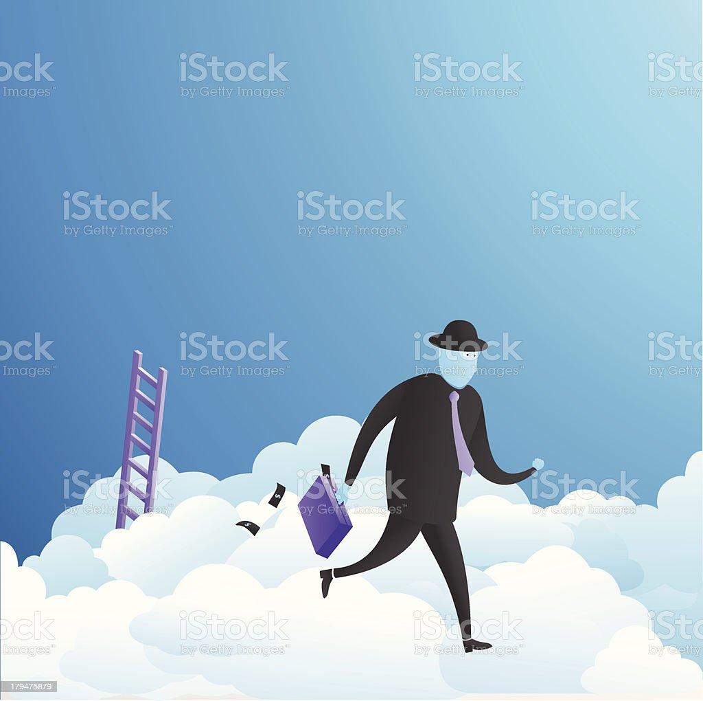 Runaway! royalty-free stock vector art
