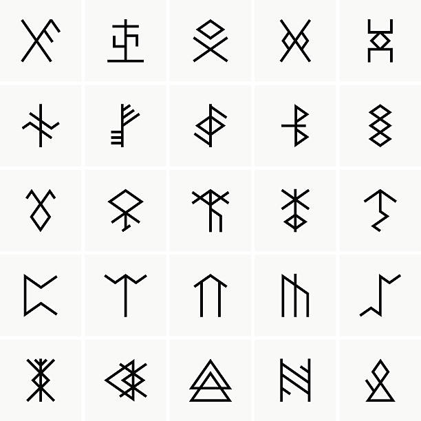Royalty Free Runes Clip Art Vector Images Illustrations Istock