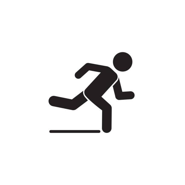 ilustrações de stock, clip art, desenhos animados e ícones de runner icon. logo element illustration. runner symbol design. colored collection. runner concept. can be used in web and mobile - running