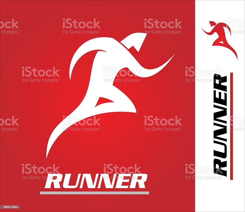 runner logo. vector art illustration