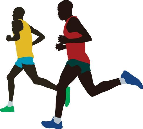 Runner Marathon Running Vector Art Illustration