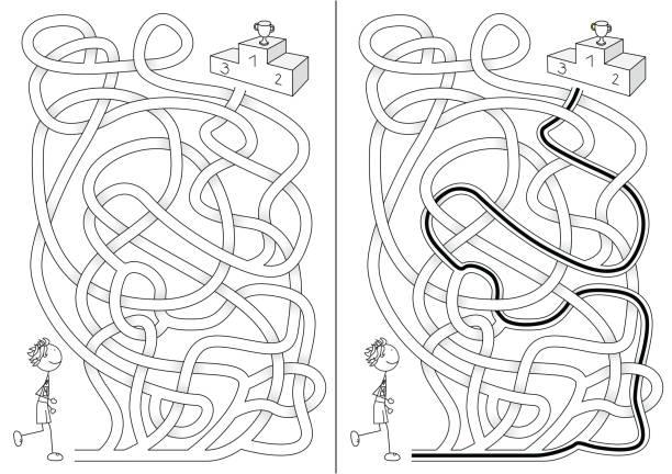 Runner labirinto - ilustração de arte em vetor
