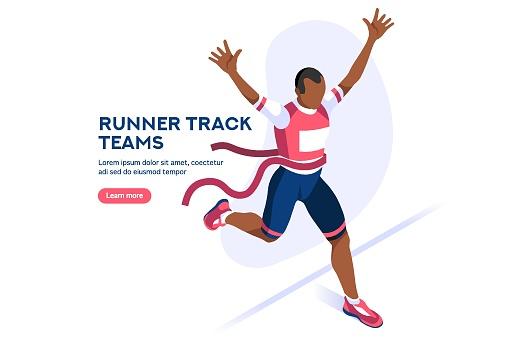 Runner Running Race Vector Icon