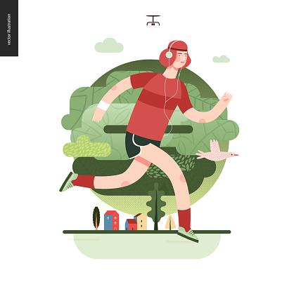 Runners - guy exercising