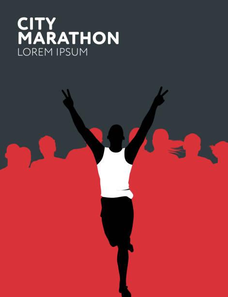Runners vector art illustration