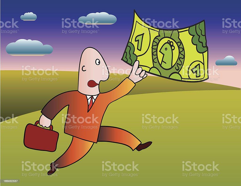 running after money royalty-free stock vector art