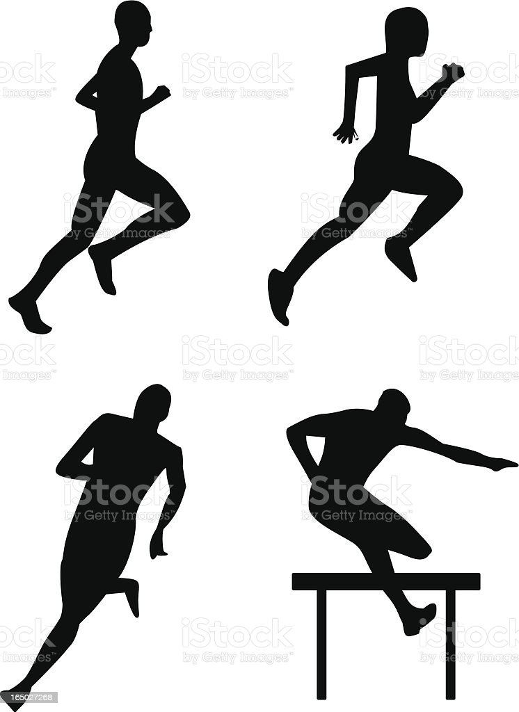 Running and steeplechase royalty-free stock vector art