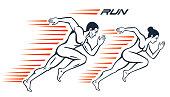 Running athletes. Sport concept.