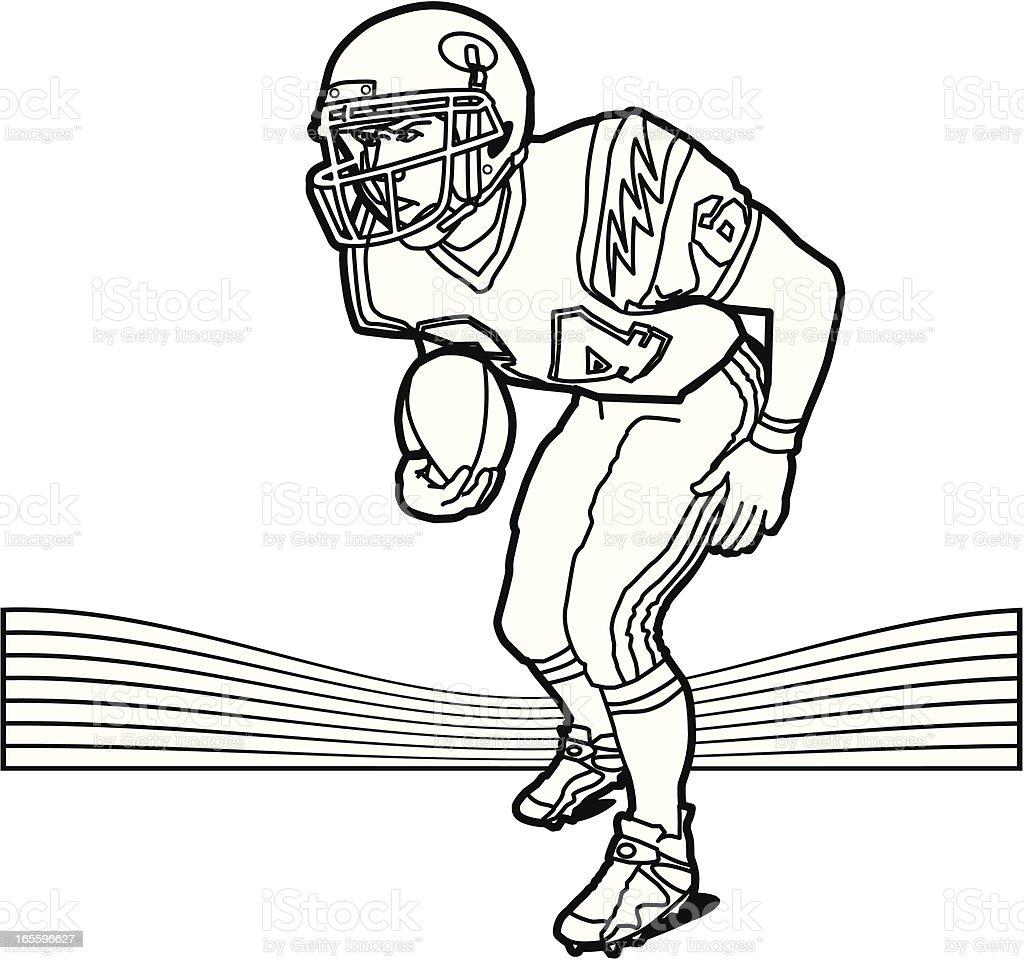 Running Back royalty-free running back stock vector art & more images of american football - ball