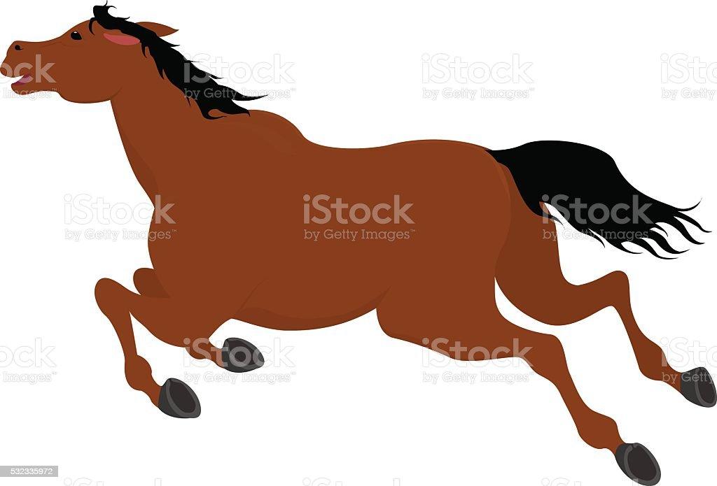 ランニングゲッケイジュカットイラスト馬 せん馬のベクターアート素材