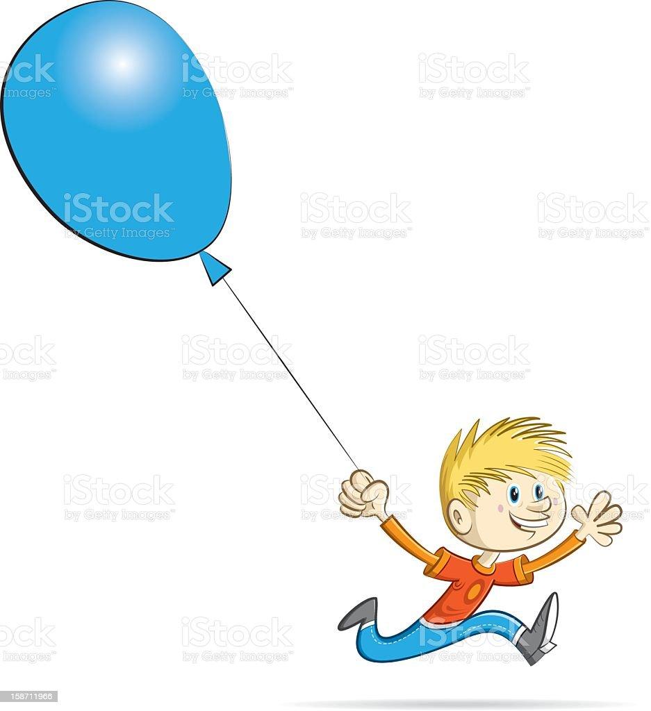 running boy vector art illustration