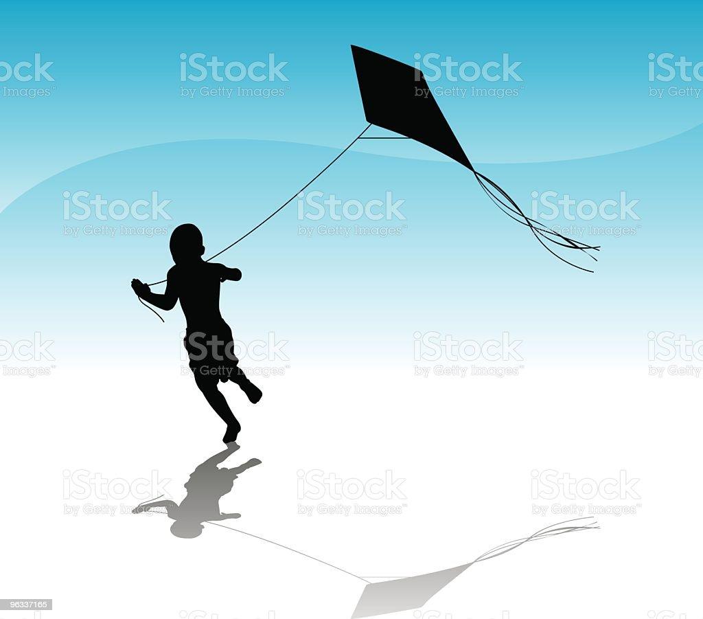 Running Boy ~ Vector royalty-free stock vector art